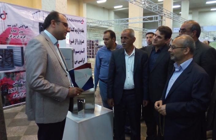 پرزنت محصولات شرکت توسط مدیرعامل شرکت در نمایشگاه کشاورزی محلات